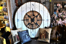 Reclaimed Wooden Clock | Compass Large