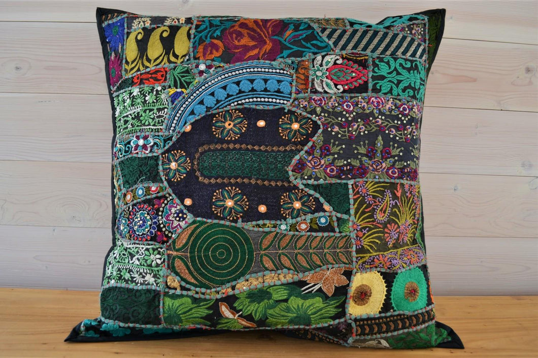 Cushion | Beaded Green Large