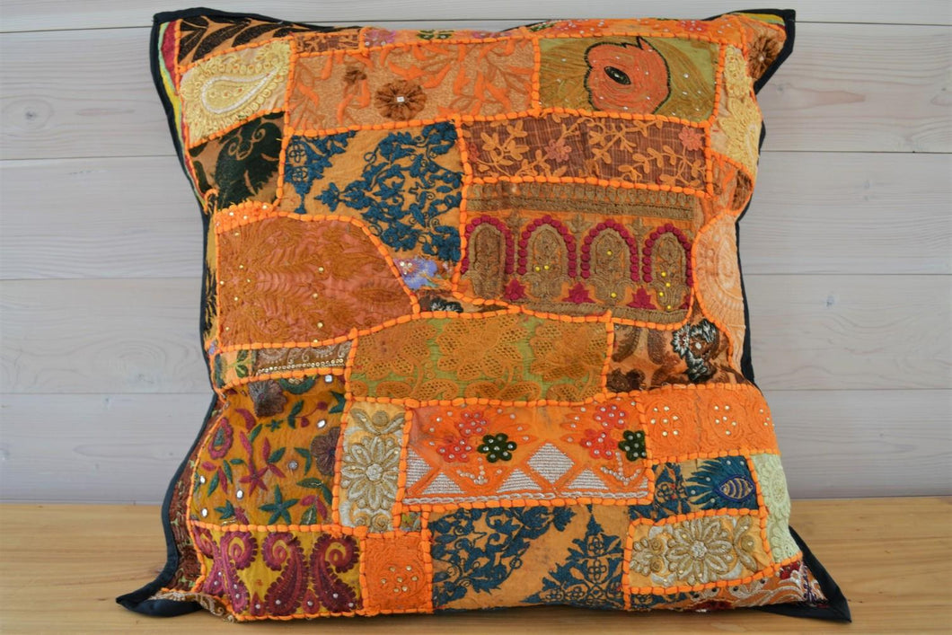 Cushion | Beaded Orange Large