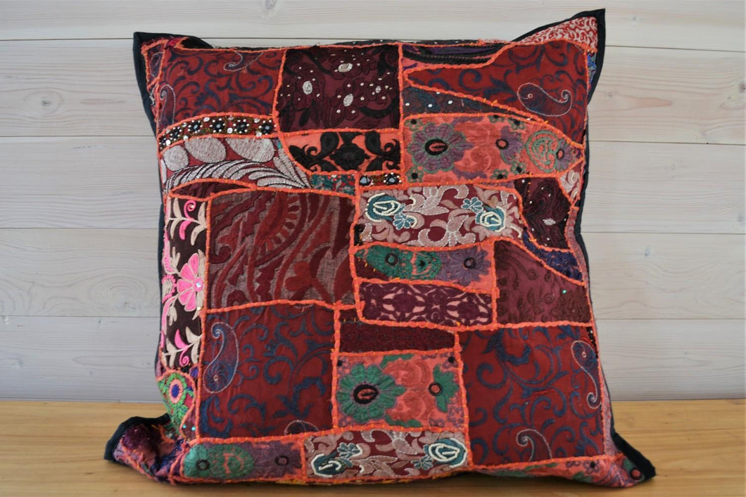 Cushion | Beaded Red Large