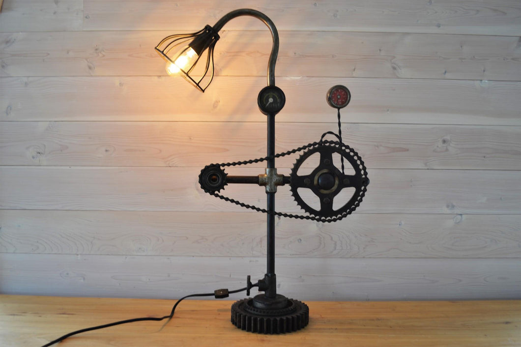 Industrial Cog Table Lamp