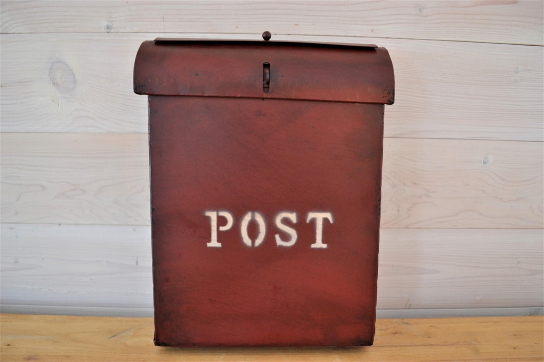 Metal Mailbox | Post Antique Red