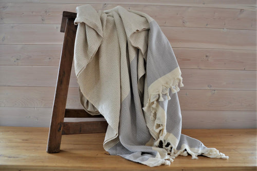 Turkish Blanket | Mist Diamond
