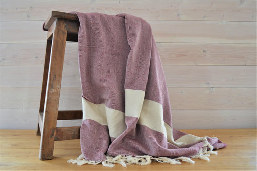 Turkish Blanket Maroon Classic - DemXx Online - luxurious, fair trade, home decor, gifts