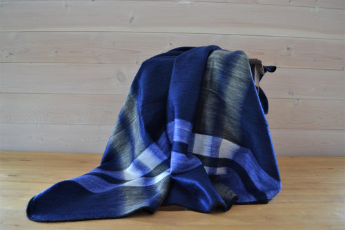 Alpaca Throw Tartan Royal Blue - DemXx Online - luxurious, fair trade, home decor, gifts