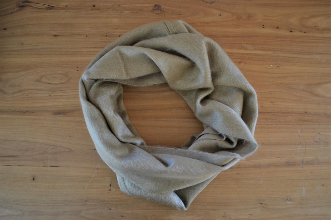 Alpaca Infinity Scarf Pecan - DemXx Online - luxurious, fair trade, home decor, gifts