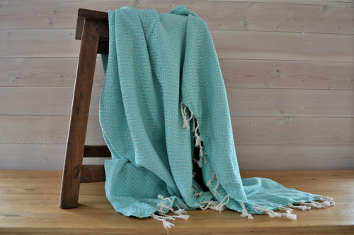 Turkish Blanket | Sea Flower Chevron
