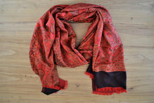 Silk Stole | Red Paisley