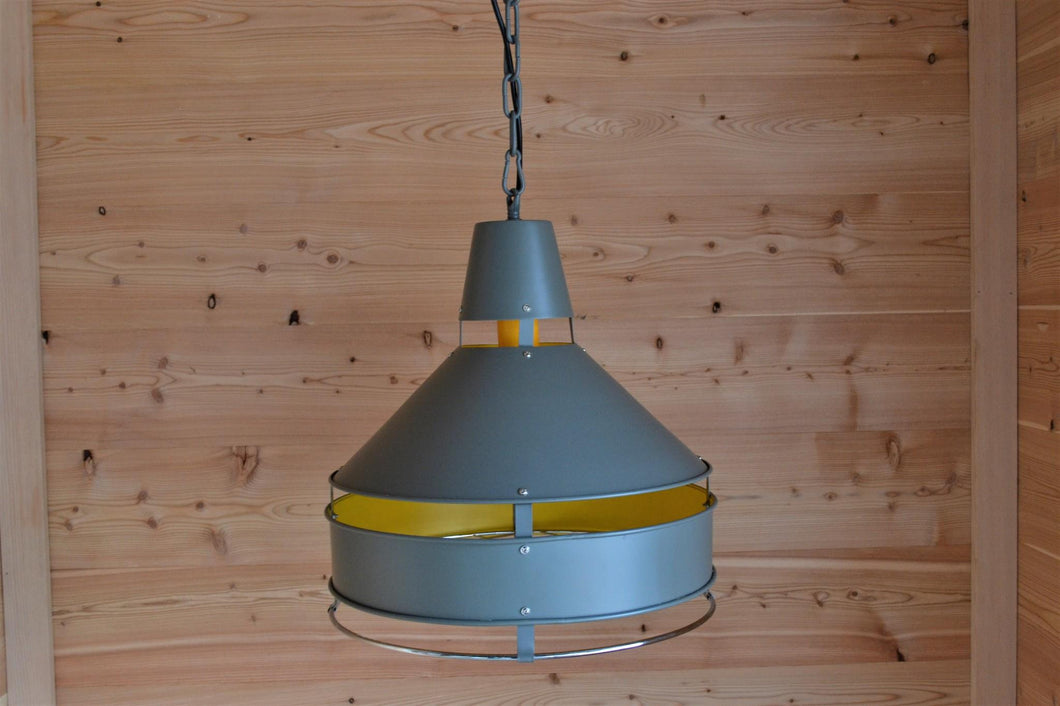 Ben Ceiling Light | Silver & Yellow