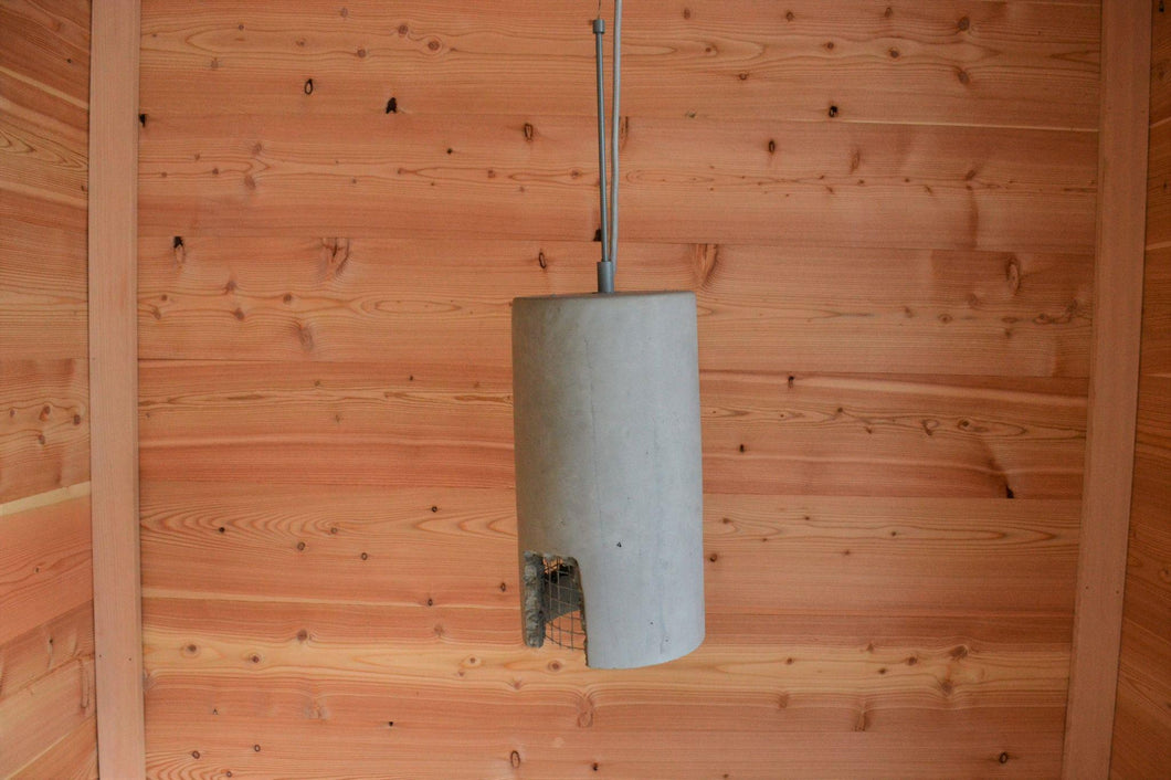 Cement Pendant Light | Cylinder Grey