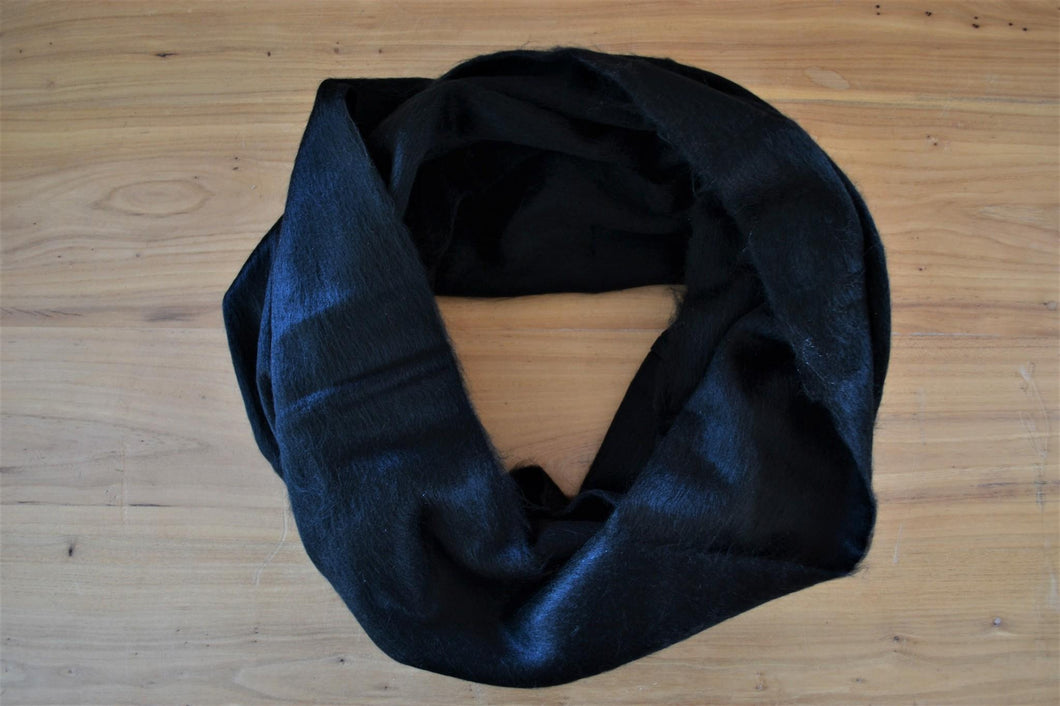 Alpaca Infinity Scarf Black - DemXx Online - luxurious, fair trade, home decor, gifts