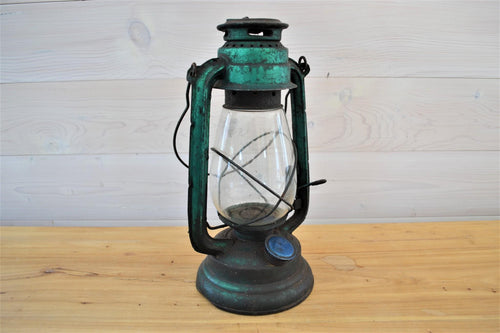 Vintage Oil Lamp | Teal
