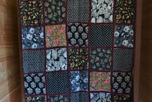 Patchwork King-Size Quilt | Black With Floral
