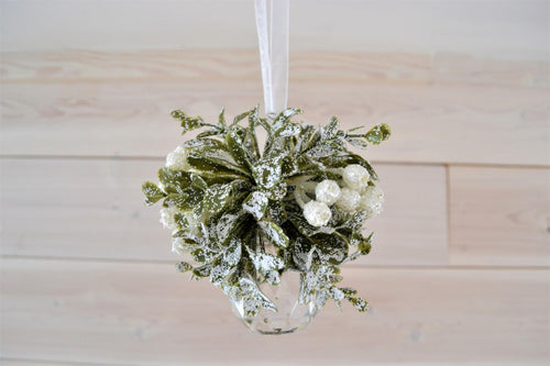 Frosted Mistletoe Ornament