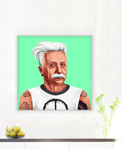 Albert Einstein Interchangeable Fabric Art Print Created By Amit Shimoni
