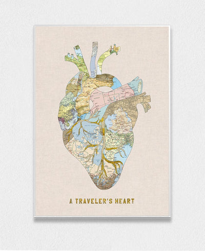 A Travelers Heart Art Print Created By Bianca Green