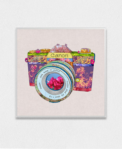 Floral Can0N Interchangeable Fabric Art Print Created By Bianca Green