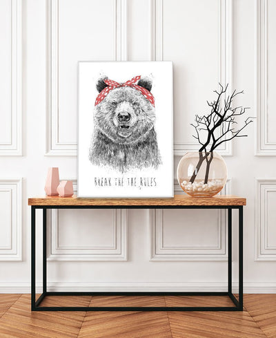 Break The Rules Art Print Created By Balazs Solti