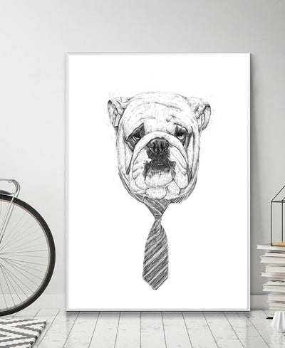 Cooldog Interchangeable Fabric Art Print Created By Balazs Solti