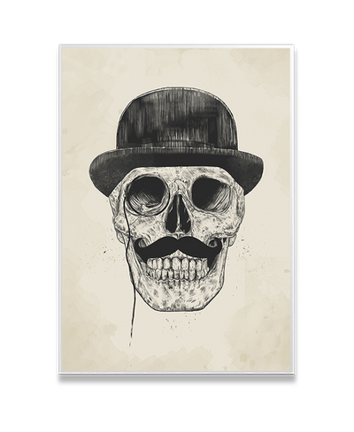 Gentlemen Never Die Interchangeable Fabric Art Print Created By Balazs Solti
