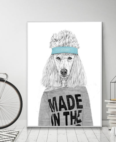 80's Bitch Interchangeable Fabric Art Print Created By Balazs Solti