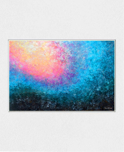 Blooming Tide Interchangeable Fabric Art Print Created By Vinn Wong