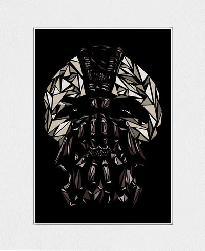 Bane Mask Interchangeable Fabric Art Print Created By Cristian Mielu
