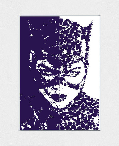 Cat Woman Interchangeable Fabric Art Print Created By Cristian Mielu