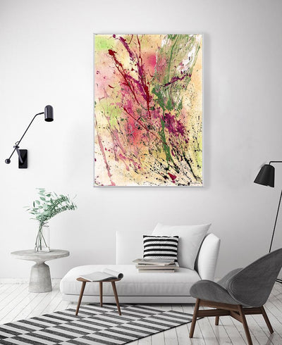 Champagne Interchangeable Fabric Art Print Created By Vinn Wong