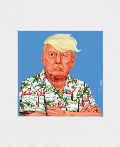 Donald Trump Interchangeable Fabric Art Print Created By Amit Shimoni