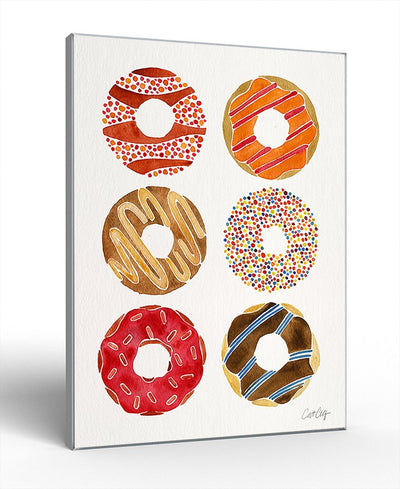 Donuts Interchangeable Fabric Art Print Created By Cat Coquillette