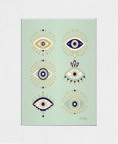 Evil Eyes Interchangeable Fabric Art Print Created By Cat Coquillette