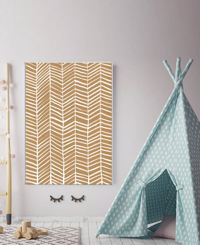 Herringbone Pattern Interchangeable Fabric Art Print Created By Cat Coquillette
