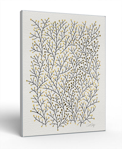Berry Branches Interchangeable Fabric Art Print Created By Cat Coquillette