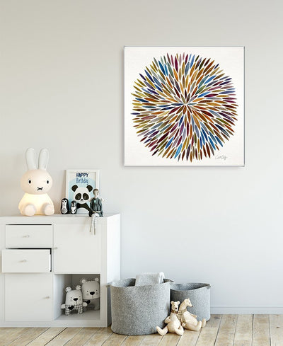 Watercolor Burst Interchangeable Fabric Art Print Created By Cat Coquillette