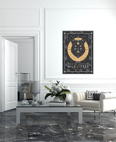 Wolf Interchangeable Fabric Art Print Created By Cat Coquillette