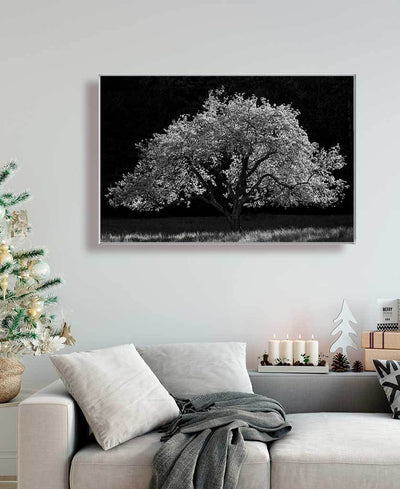 Blooming Apple Tree Interchangeable Fabric Art Print Created By Kurt Budliger