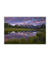 Colorful Sunrise Over Teton Range Interchangeable Fabric Art Print Created By Kurt Budliger