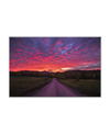 Colorful Sunset Over Country Road Interchangeable Fabric Art Print Created By Kurt Budliger