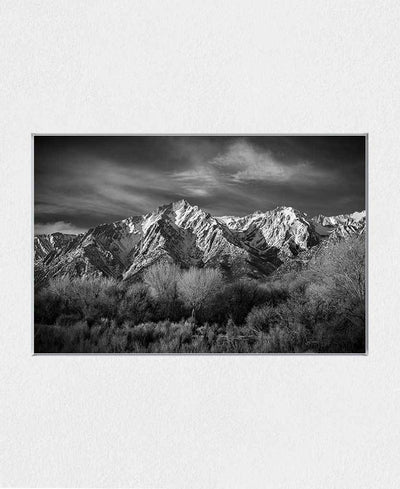 Black and White Landscapes Interchangeable Fabric Art Print Created By Kurt Budliger
