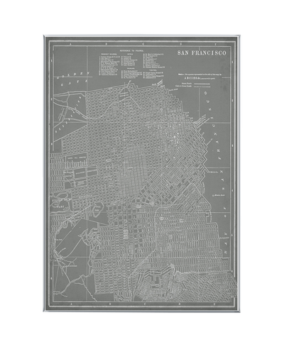 City Map of San Francisco Interchangeable Fabric Art Print Created By Vision Studio