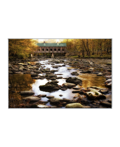 Bridge Over Rocky Waters Interchangeable Fabric Art Print Created By Danny Head
