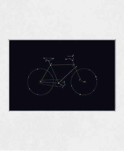 Bike Constellation Art Print Created By Florent Bodart
