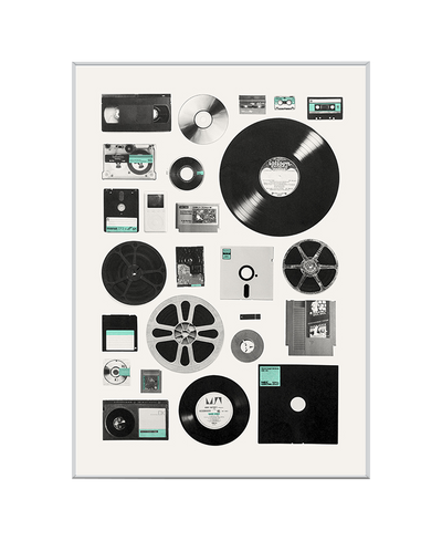 Data Interchangeable Fabric Art Print Created By Florent Bodart