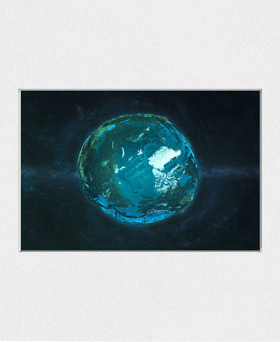 Globe Relief - Arctic Interchangeable Fabric Art Print Created By Marco Bagni