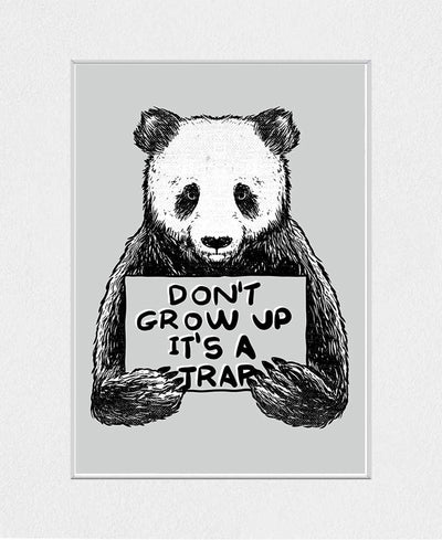 Don't Grow Up Interchangeable Fabric Art Print Created By Tobe Fonseca