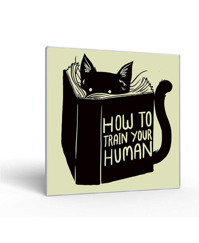 How To Train Your Human Interchangeable Fabric Art Print Created By Tobe Fonseca