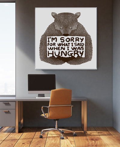 I'm Sorry For What I Said When I Was Hungry Interchangeable Fabric Art Print Created By Tobe Fonseca