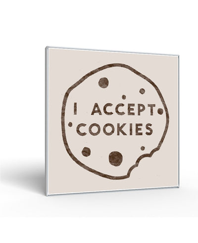 I Accept Cookies Interchangeable Fabric Art Print Created By Florent Bodart