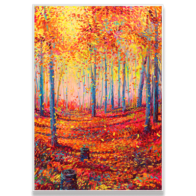 Autumn Sunlight Interchangeable Fabric Art Print Created By Iris Scott